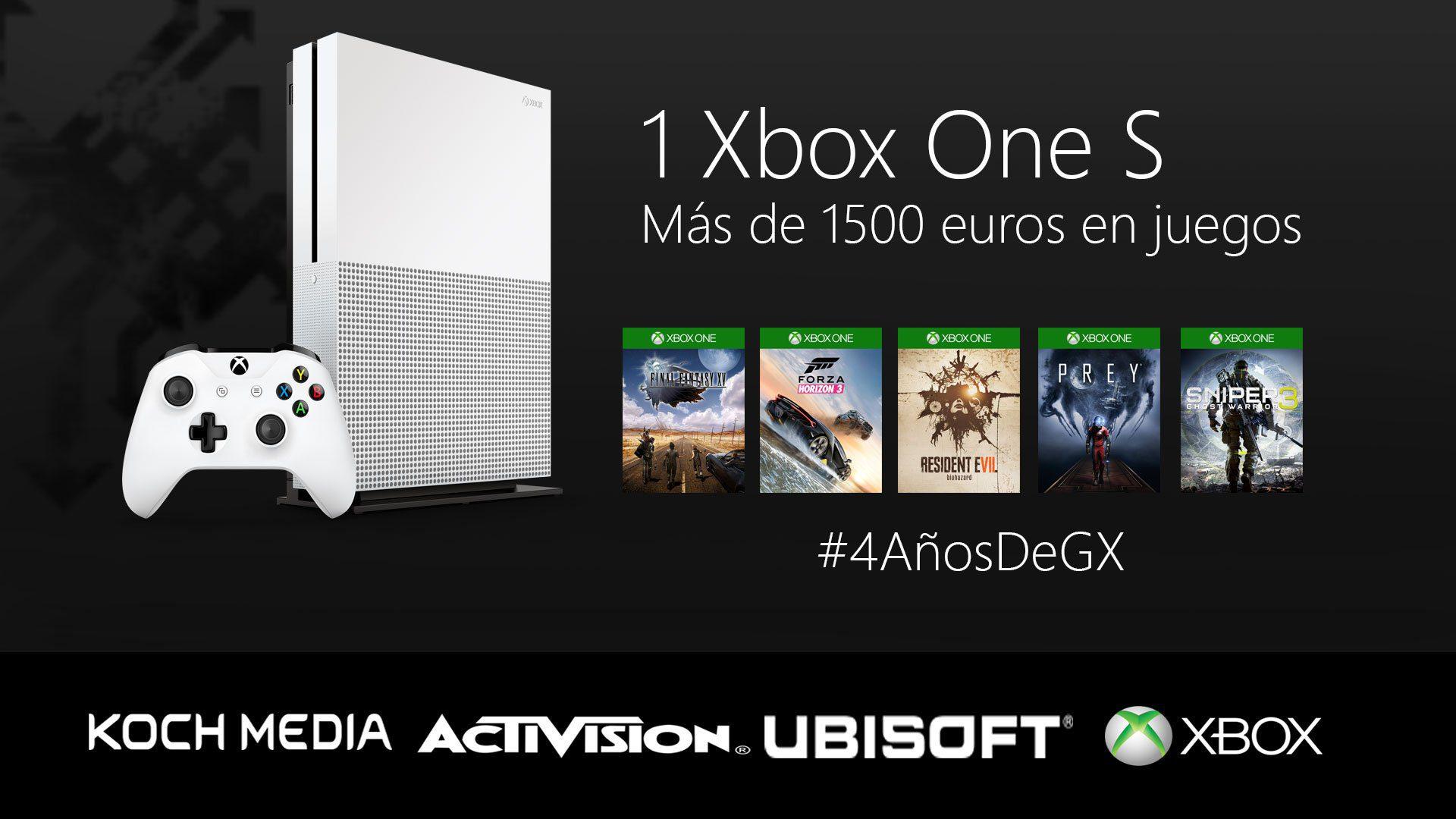 Nos hemos vuelto locos, sorteamos una Xbox One S y más de 1500 euros en juegos