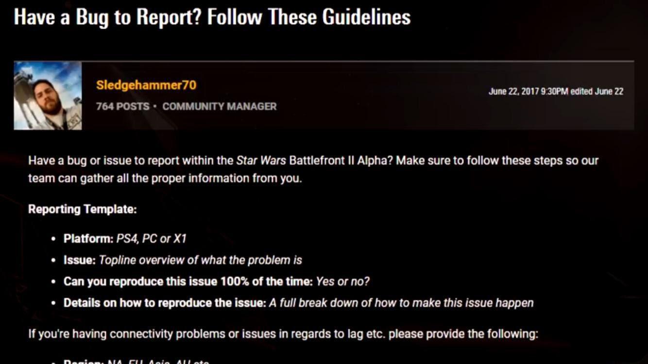Se confirma la fase alfa de Star Wars Battlefront 2 de momento solo en PC