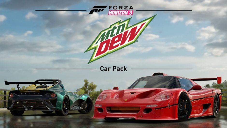 Ya disponible el nuevo pack de coches de Forza Horizon 3: Mountain Dew