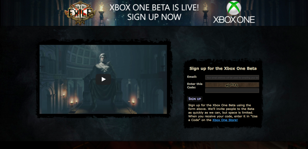 Registro Beta Path of Exile