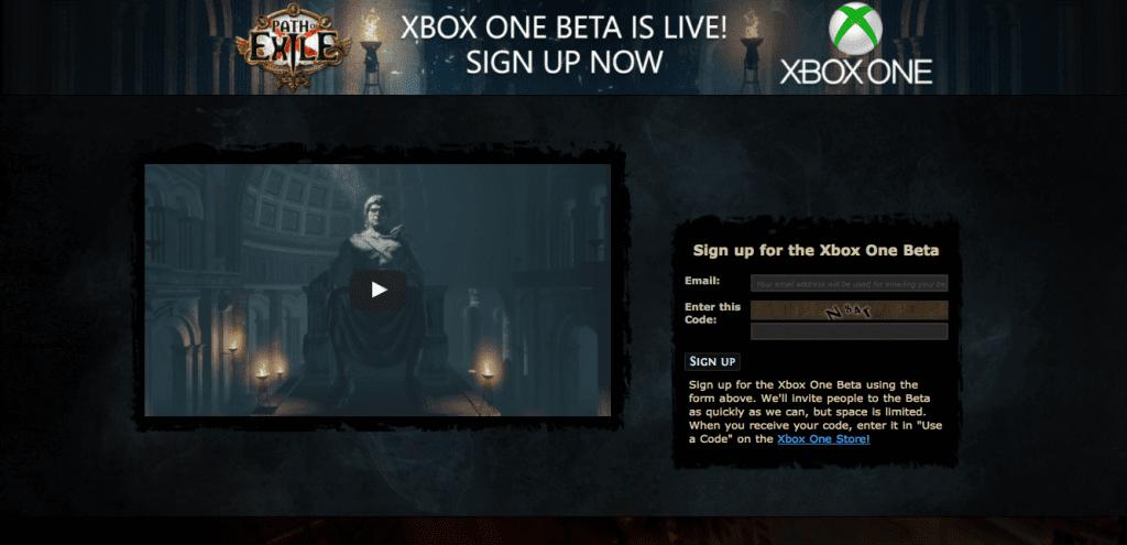 Registro Beta Path of Exile