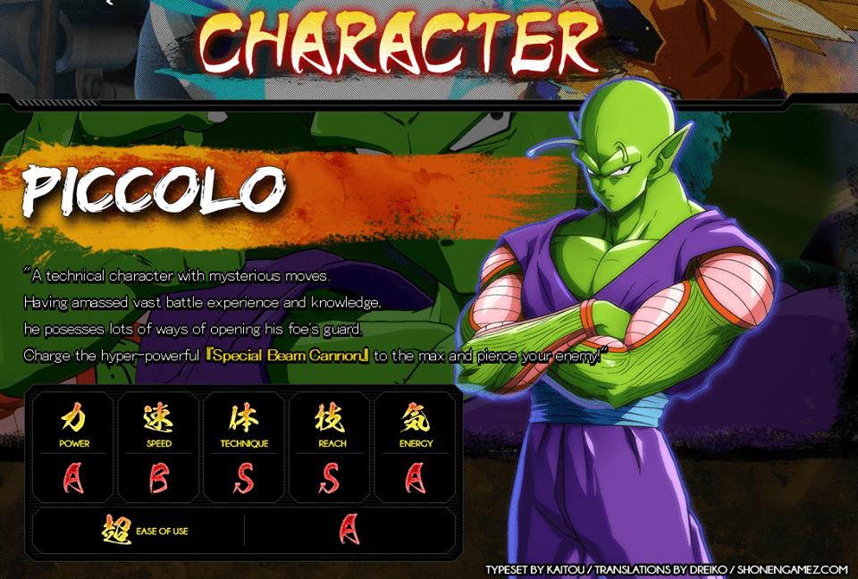 Ficha-Piccolo-DragonBallFigherZ