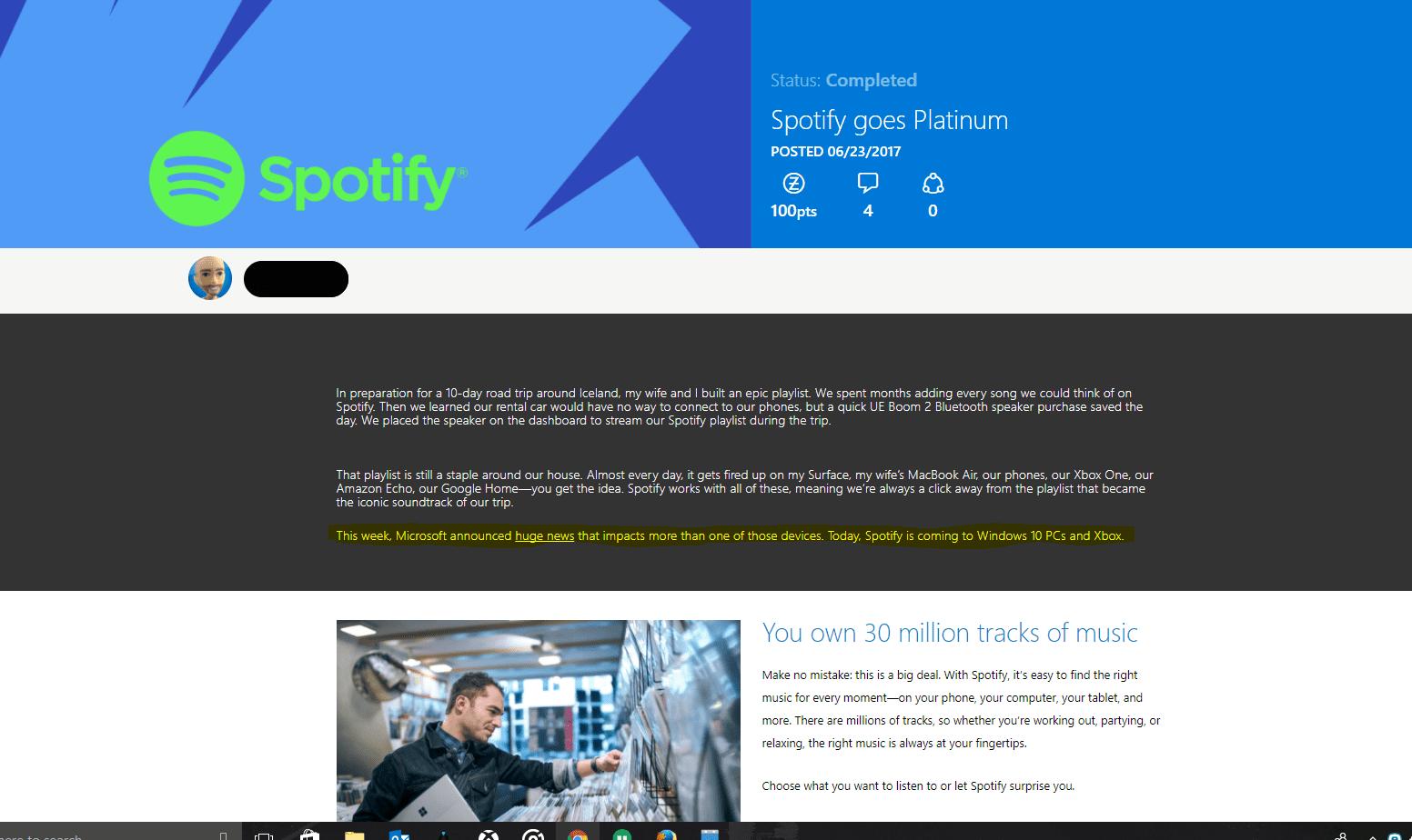 Spotify ya disponible para Xbox One ¡A descargar!