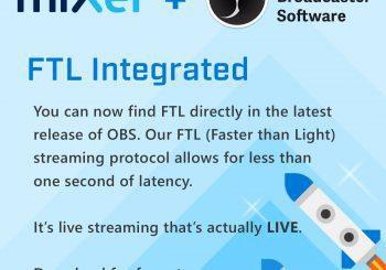 OBS se actualiza para dar soporte total al protocolo FTL de Mixer