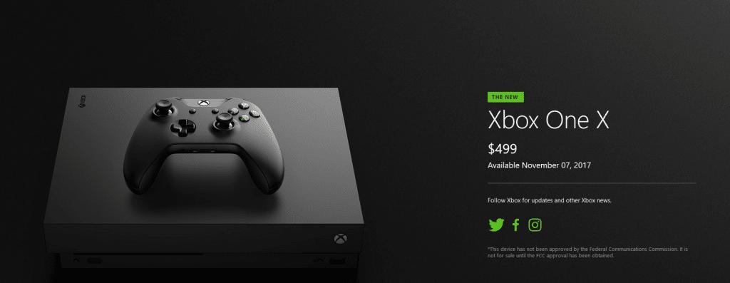 Precio Xbox One X