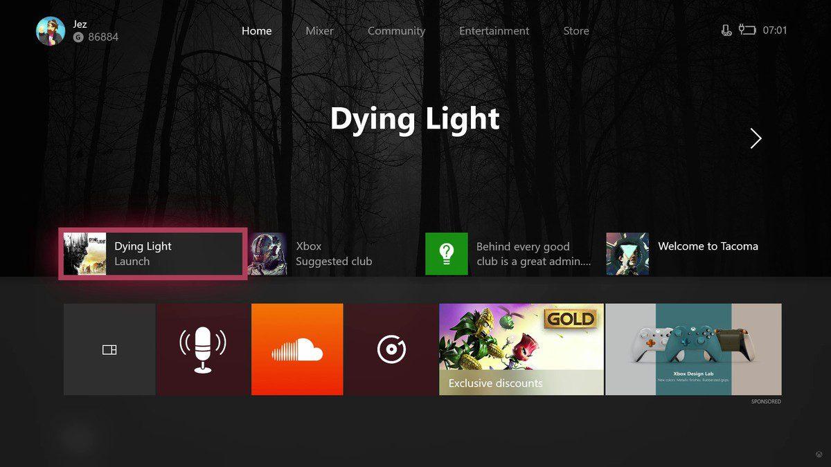 Xbox Fluent Design insider preview