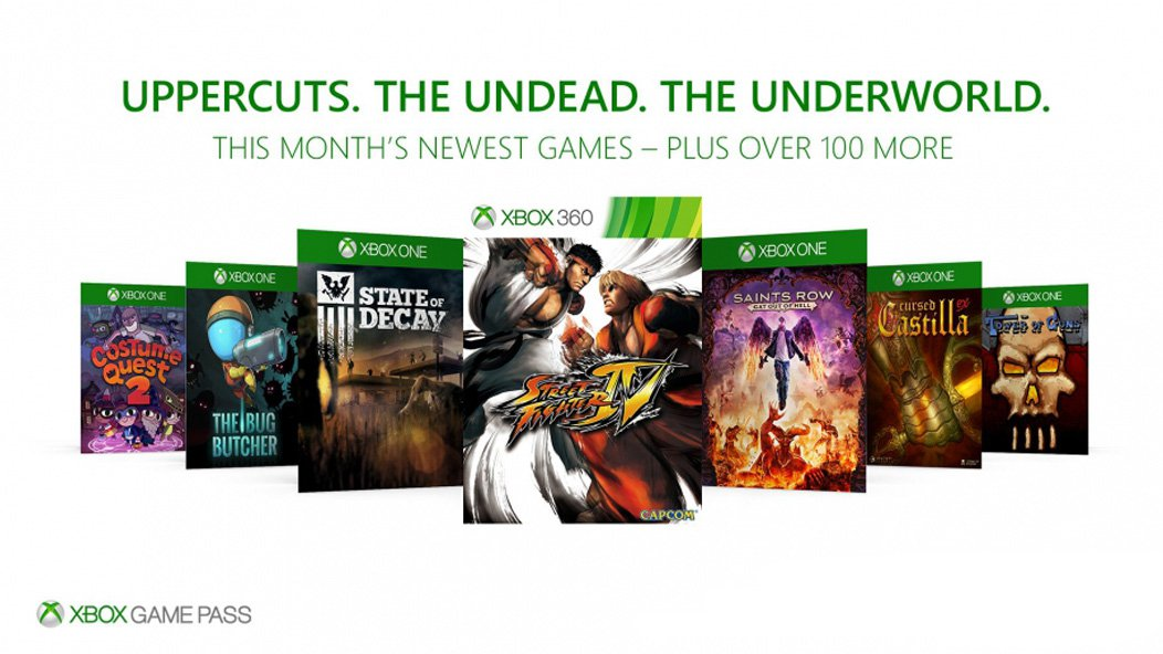 Xbox Game Pass octubre 2017