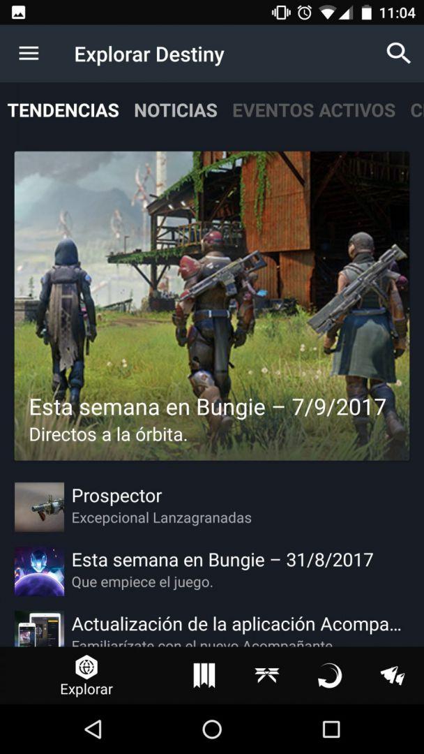 Te enseñamos a usar la app móvil companion de Destiny 2