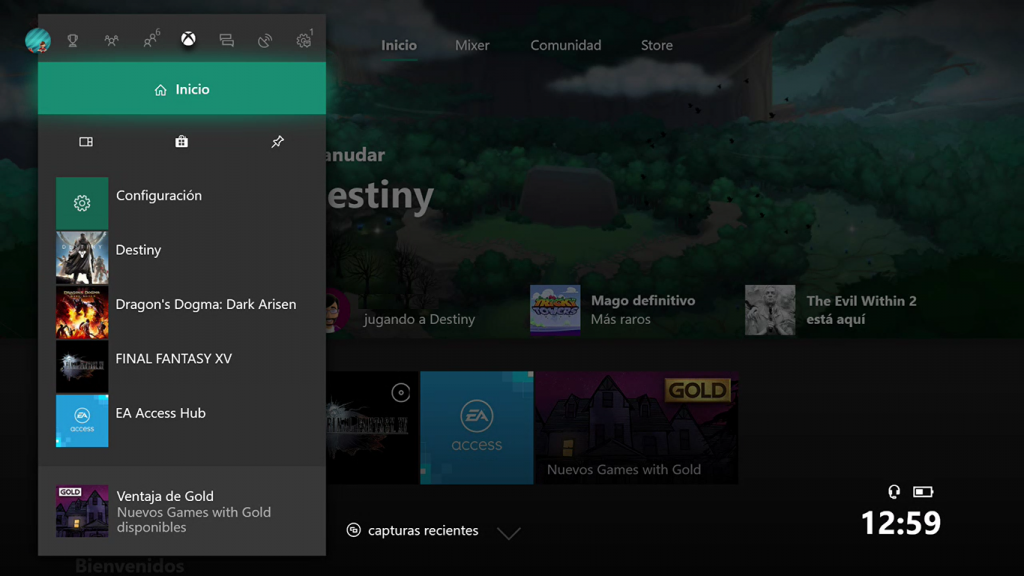 Nueva Interfaz de Xbox