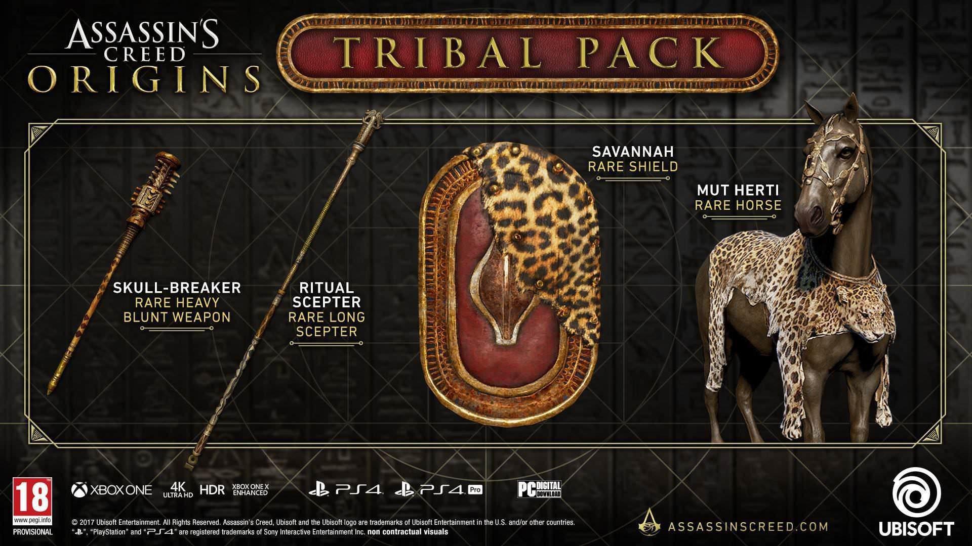 Consigue Gratis El Pack Tribal De Assassin S Creed Origins