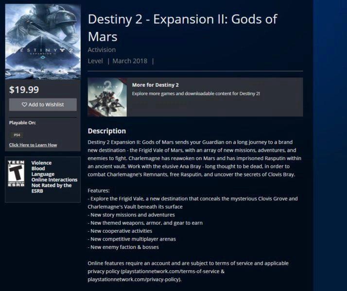 Destiny 2 Dioses de Marte