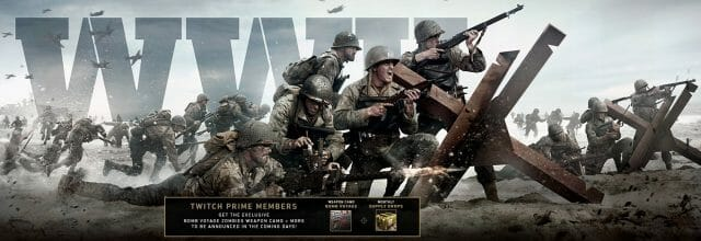 Twitch Prime Call of duty WWII