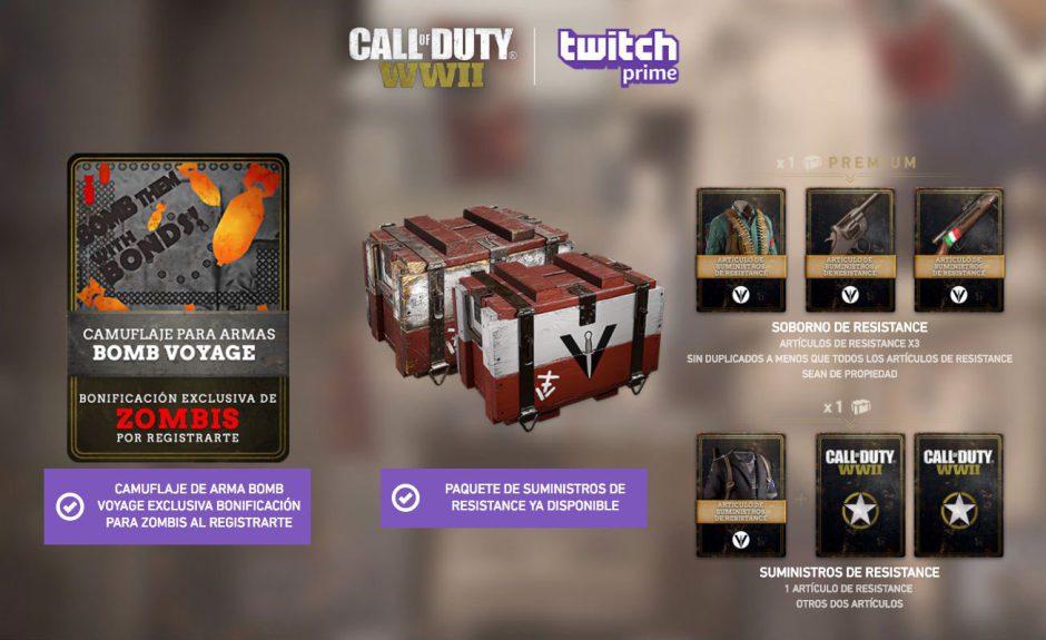 Consigue gratis el paquete de suministros Resistance de Call of Duty WWII