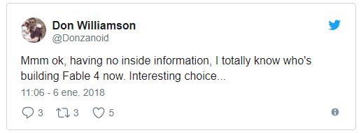 [ACTUALIZADA] Un ex-Lionhead confirma el nuevo Fable en twitter, y luego borra los tweets