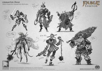 Os mostramos artworks y concepts inéditos del cancelado Fable Legends