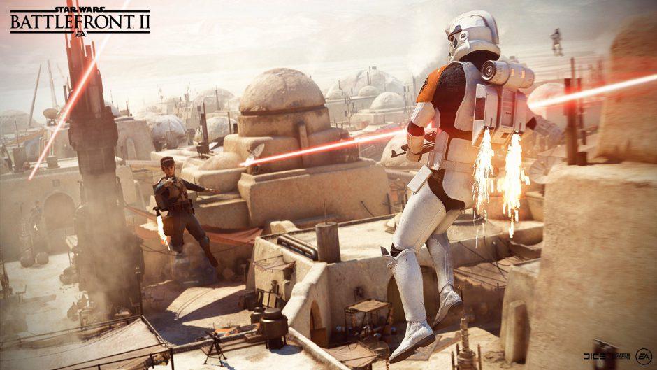 El parche 1.2 de Star Wars Battlefront II trae el modo Jetpack Cargo, nuevos mapas, aspectos y correcciones