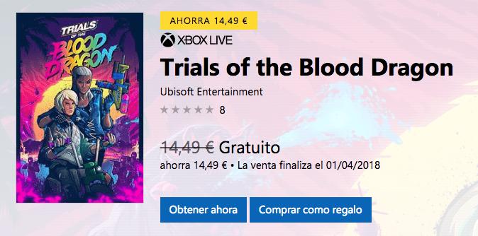 Trials of the Blood Dragon se adelanta y ya puedes descargarlo gratis si eres Gold