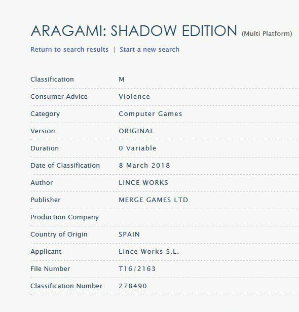 clasificación aragami au