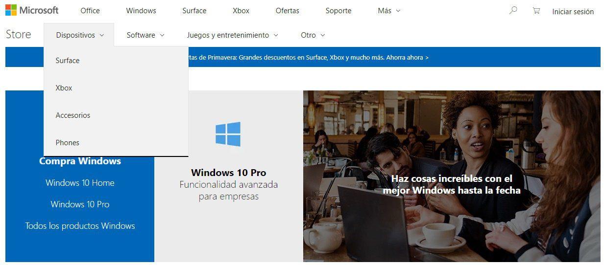 La Microsoft Store estrena sección para vender PC's y otro hardware