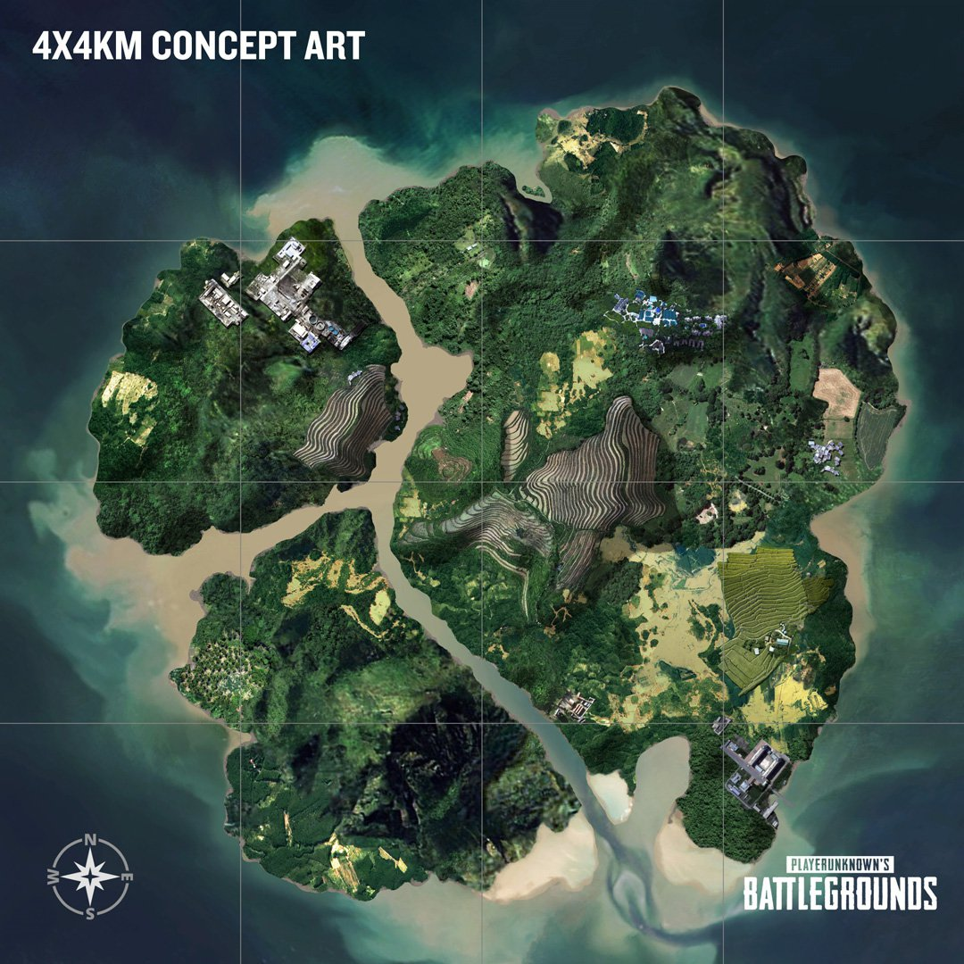 PUBG mapa 4x4km Xbox One