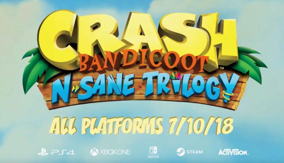 Crash Bandicoot N'sane Trilogy anunciado oficialmente para Xbox One