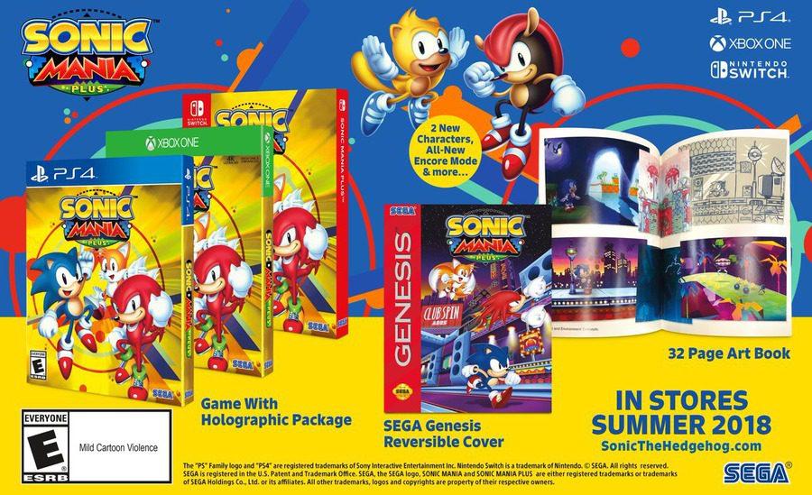 Sonic Mania Plus anunciado para Xbox One - Sega ha anunciado la versión física de uno de los grandes juegos del pasado año, Sonic Mania.