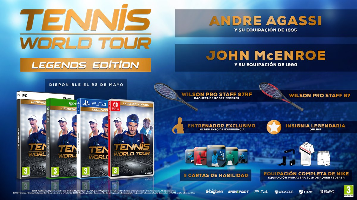 Tennis World Tour legendaria