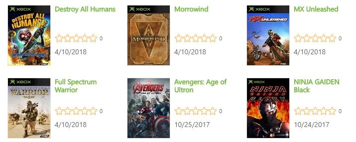 Retrocompatibles Xbox original
