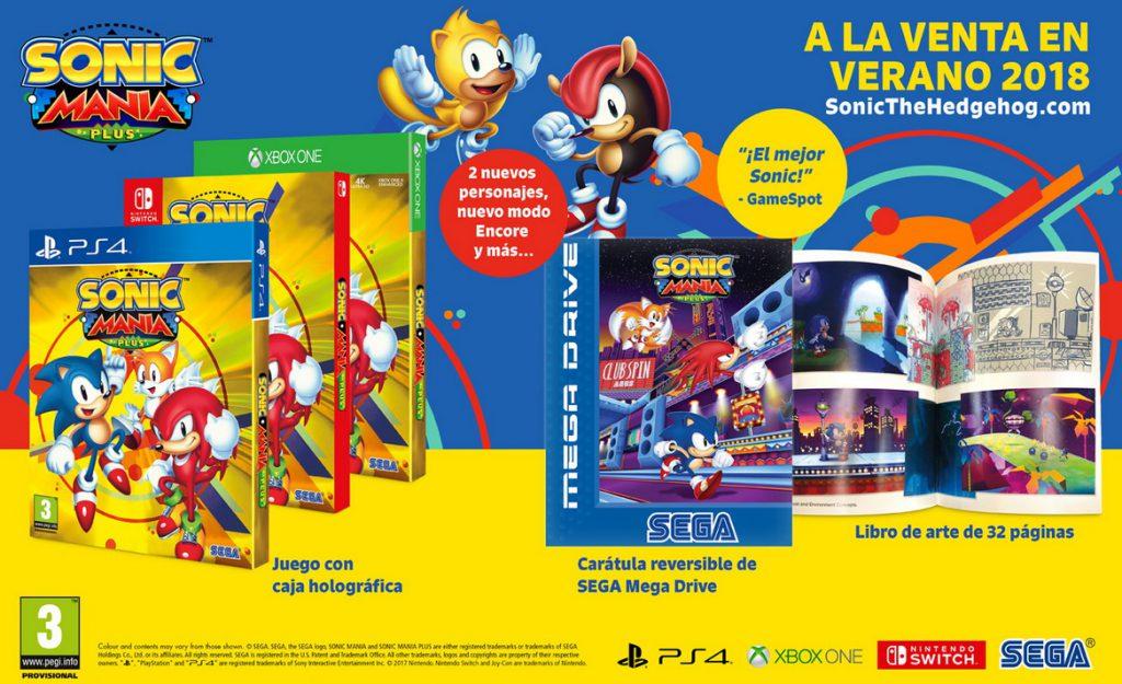 Sonic Mania Plus disponible en Xbox One el próximo 17 de julio - Sega ha anunciado la fecha de lanzamiento en la que podremos adquirir en formato físico Sonic Mania Plus.