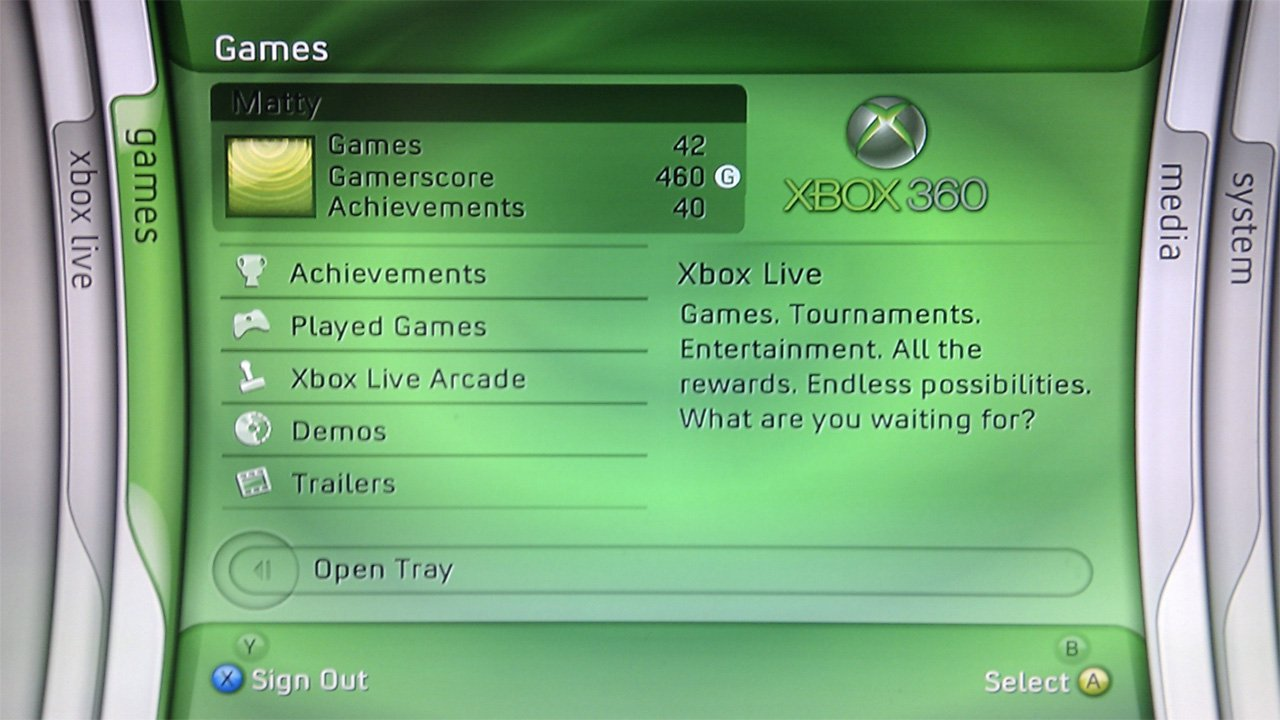 how to go on xbox live on on xbox 360