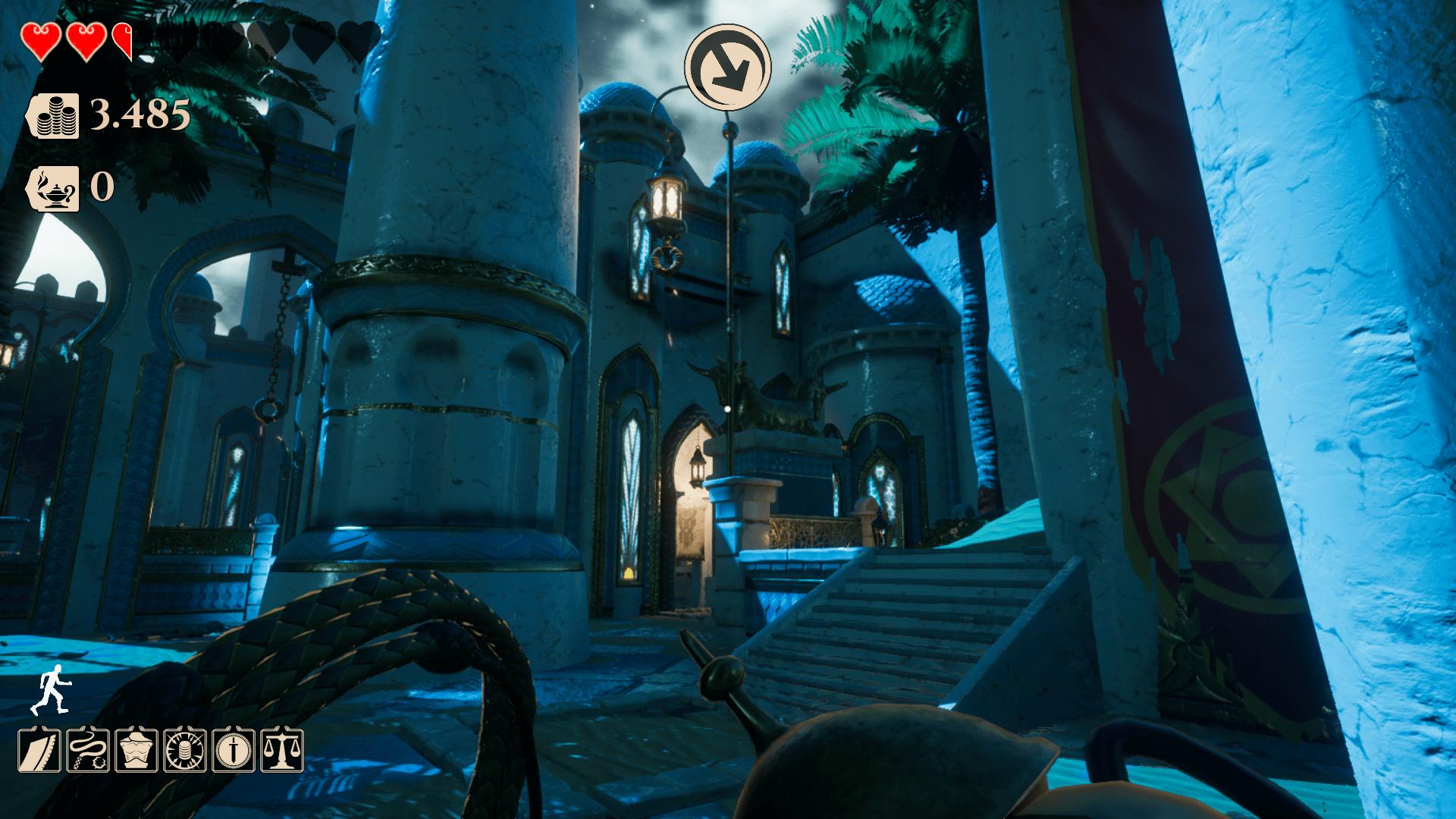 Análisis de City Of Brass - Ponte en el pellejo de un valiente ladrón en City Of Brass. Lucharemos con nuestra espada y nuestro látigo para alcanzar un tesoro escondido en el corazón de una ciudad mítica llena de trampas y enemigos.
