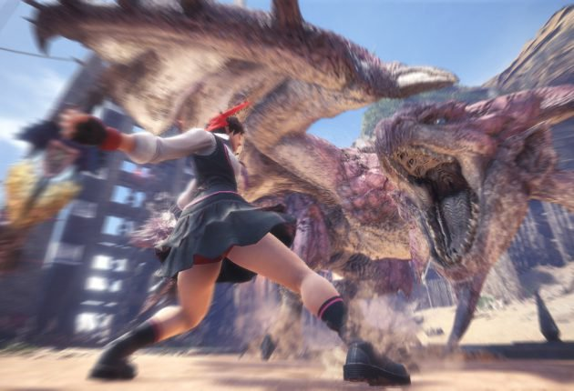 Sakura de Street Fighter llegará a Monster Hunter World a primeros de mayo - La vivaz luchadora de Street Fighter, Sakura Kasugano, hará su aparición en Monster Hunter World en forma de nuevo traje para los cazadores.
