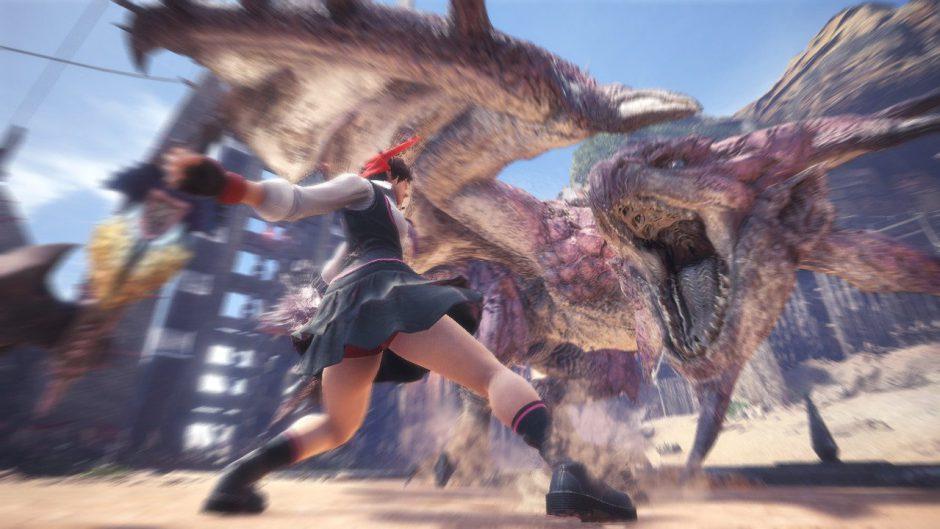 Sakura de Street Fighter llegará a Monster Hunter World a primeros de mayo
