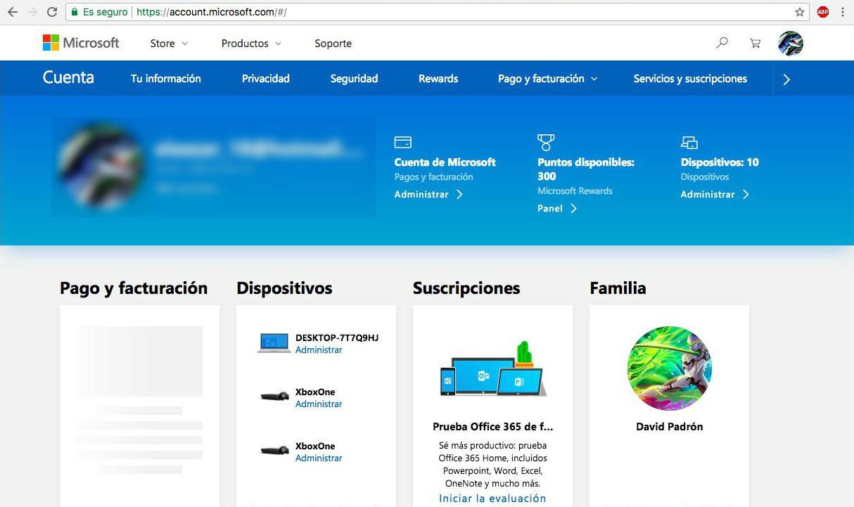 Microsoft comienza a unificar el diseño de sus webs - Algunos usuarios comienzan a poder acceder a un nuevo diseño de su Cuenta Microsoft, que se unifica al de Microsoft Rewards, que recientemente ya llegado a Europa.