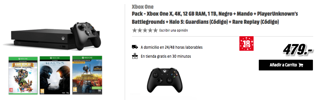Comprar Pack Xbox One X Media Markt