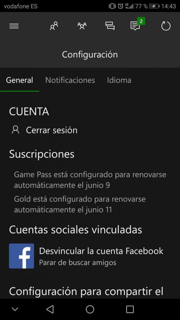 La app de Xbox se actualiza con una novedad interesante - La nueva actualización de la app de Xbox permite que los usuarios sepamos cuando nos va a cumplir una suscripción de Xbox Live.