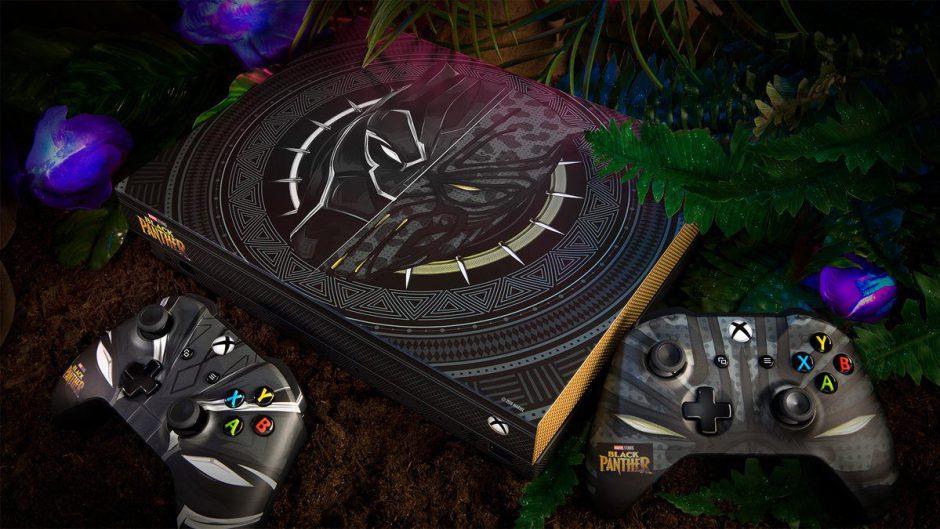 Microsoft presenta la Xbox One X de Black Panther