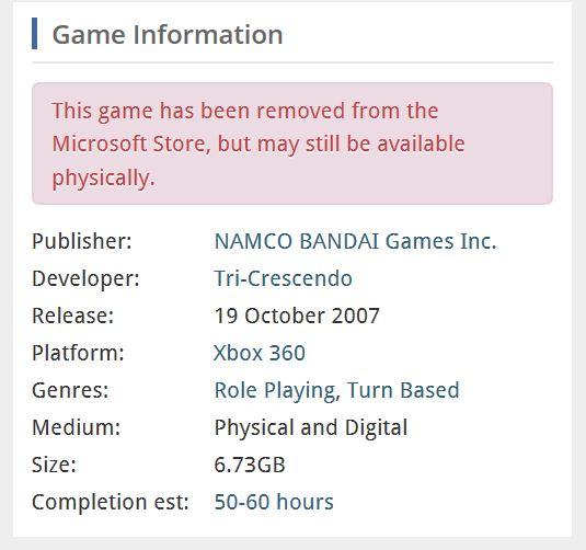Eternal Sonata desaparece de la Microsoft Store europea - Por alguna razón, Microsoft ha retirado de la tienda europea el juego de Bandai Namco y Tri Crescendo, Eternal Sonata. En el resto de tiendas si está disponible.