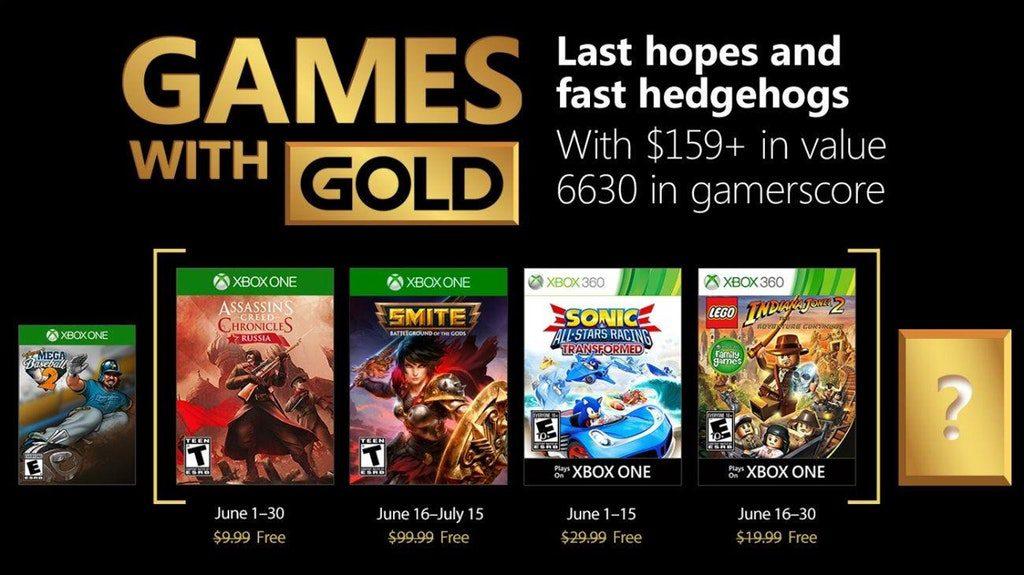 Filtrados los Games With Gold del mes de junio
