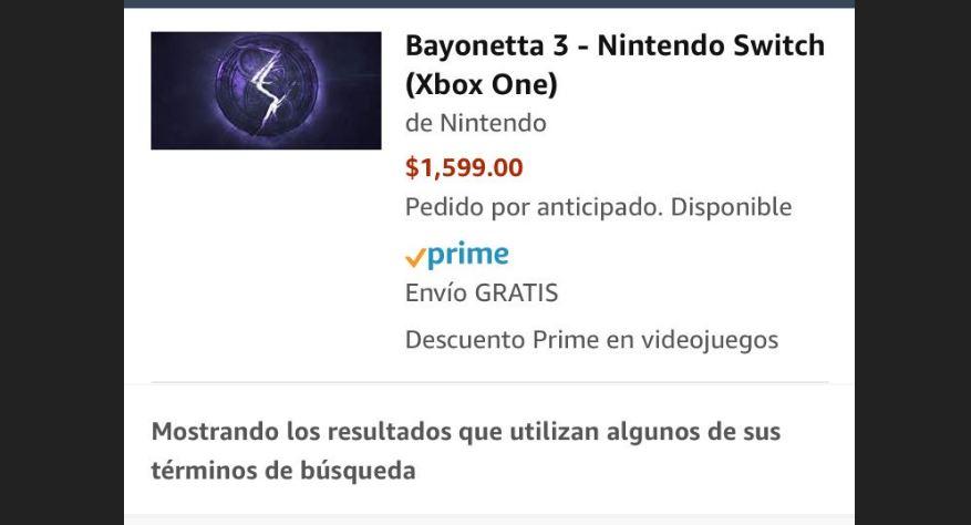 Amazon México lista Bayonetta 3 para Xbox One