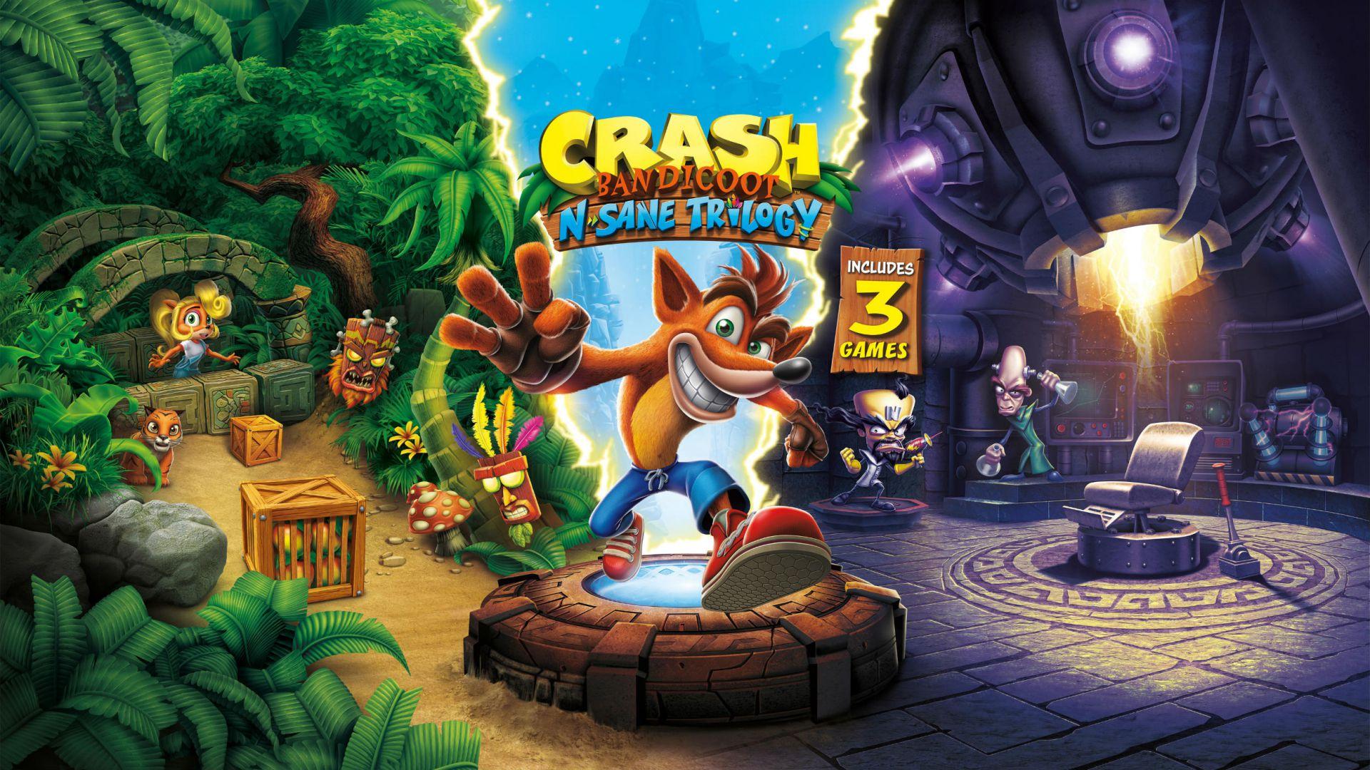 Crash Bandicoot N' Sane Trilogy deja su mejor versión en Xbox One X