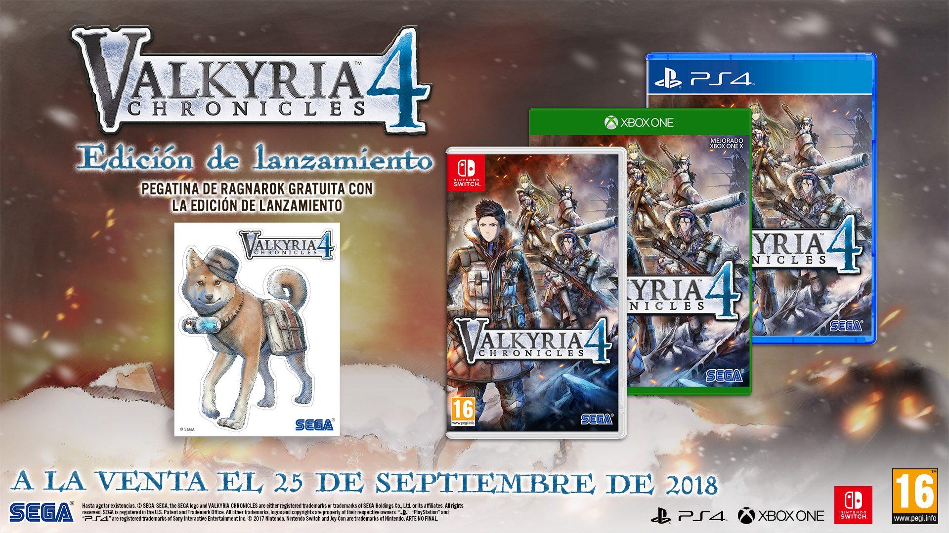 Valkyria Chronicles 4 ya tiene fecha de lanzamiento en Xbox One - Finalmente se ha confirmado que el próximo 25 de septiembre podremos disfrutar en Xbox One del esperado, Valkyria Chronicles 4.