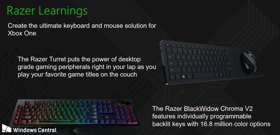 Razer & Microsoft, ¿acuerdo a la vista para traer teclados y ratones a Xbox One?