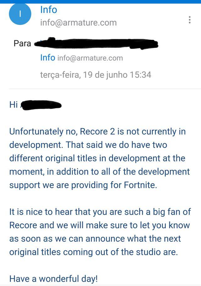 Recore 2 no está actualmente en los planes de Armature Studio - Armature Studios parece haber confirmado que no se encuentra trabajando actualmente en Recore 2.
