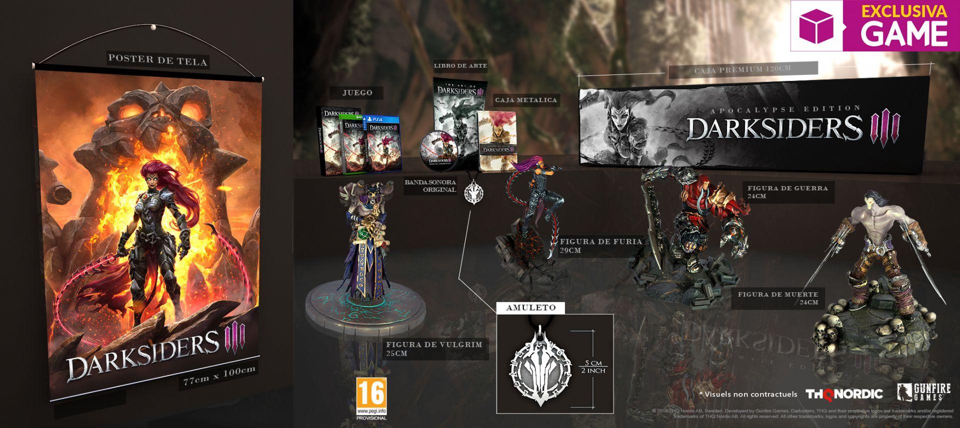 La edición Apocalypse de Darksiders III será exclusiva de GAME