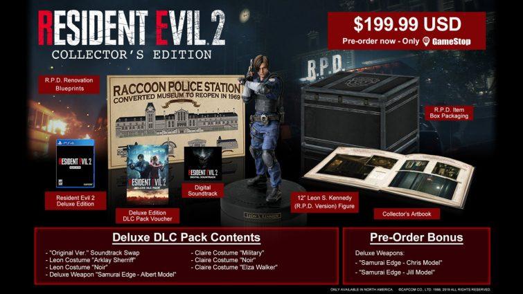 Anunciada la edición coleccionista de Resident Evil 2 Remake con figura de Leon incluída