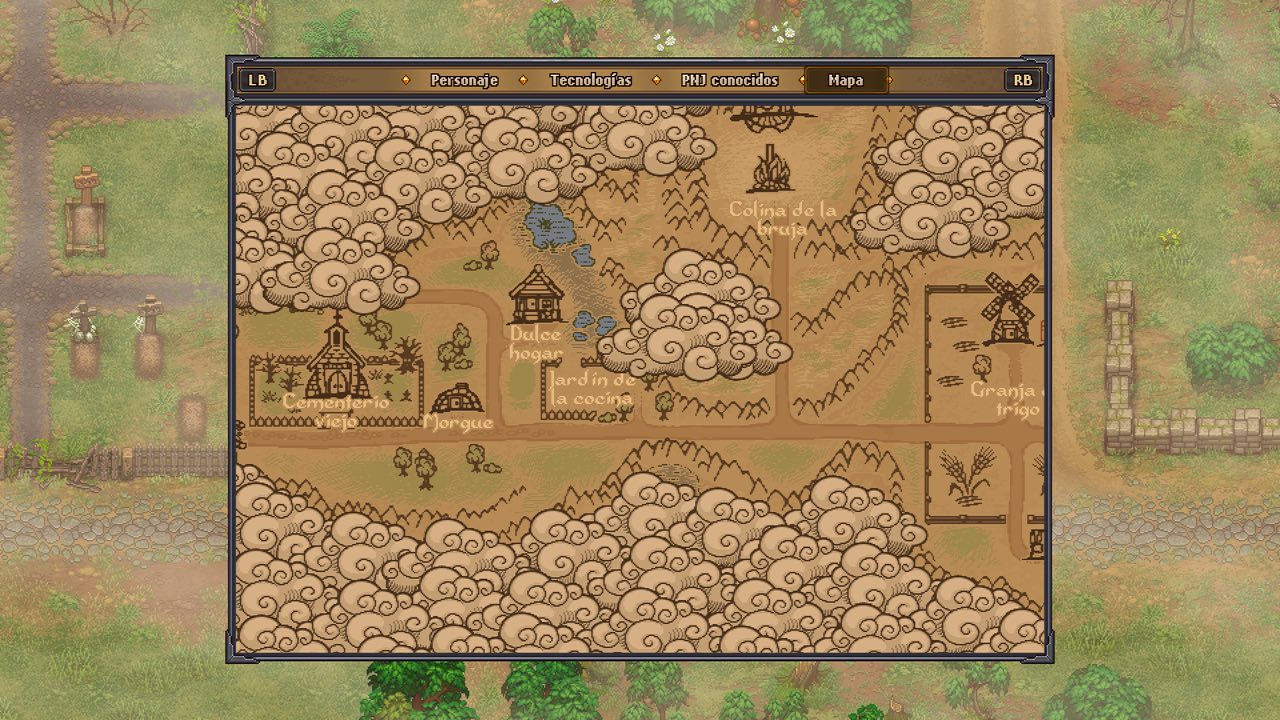 Graveyard keeper mapa