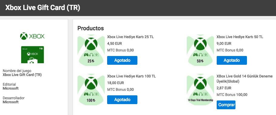 El desplome de la lira turca, un arma de doble filo al comprar en la Xbox Store de Turquía