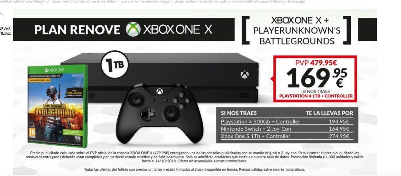 Xbox One X Promo