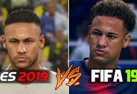 FIFA 19 vs PES 2019: Primeros vídeos comparando los rostros de los jugadores